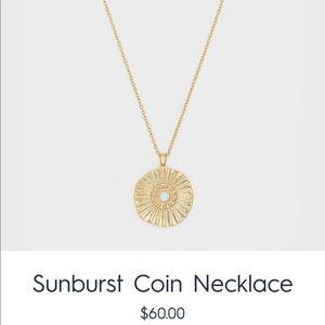 sunburst gold coin necklace by gorjana
